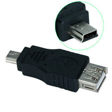 USB Female to Mini USB 5 Pin Male Adapter Converter for Cellphone MP3 Camera