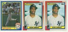 (3) Deion Sanders 1990 Topps, Score Rookie Card Lot MINT!!