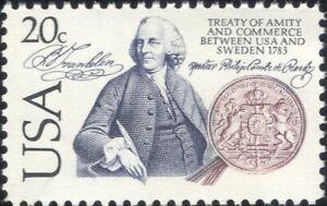 USA 1983 USA-Sweden Treaty/Benjamin Franklin/Seal/Amity/Commerce 1v (us1026)
