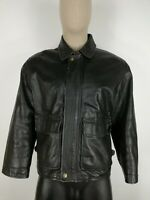 U.S. FORCE CAPPOTTO VERA PELLE MADE IN ITALY Giubbotto Jacket Giacca Tg 50 Uomo
