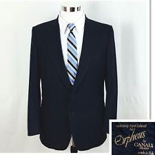ORPHEUS By CANALI Men's 2 Button 100% Wool Blazer Sports Coat Navy Blue Sz 40 R