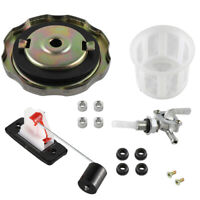 Universal 5 Gallon 7 Gallon Generator Gas Fuel Tank Valve Chrome Cap Engine Kit
