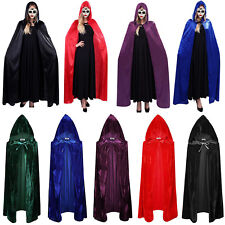 Halloween Samt Umhang Wicca Robe mittelalterlichen Hexen Larp Kapuze Kap Kostüm