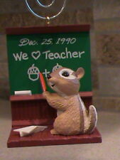1990 Hallmark Ornament Teacher Squirrel at Chalkboard