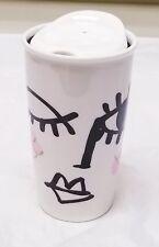 Starbucks 2014 Dot Collection Winking Eye Face 12 oz Coffee Beverage Tumbler