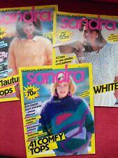 3x 1980 S VINTAGE Sandra Lavoro a Maglia RIVISTE