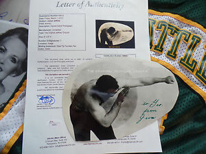 JIM James JEFFRIES SIGNED JSA LOA AUTOGRAPH cut auto James Spence full letter