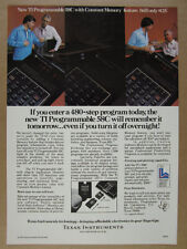 1979 Texas Instruments TI-58C Programmable Calculator photo vintage Ad