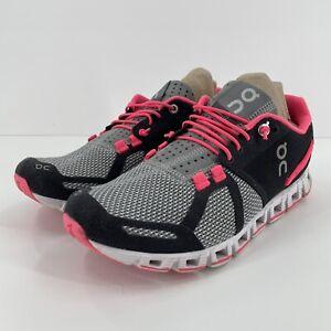 On Cloud Swiss Engineering Women's Running Shoes Size 6.5 Pink Gray Lightweight