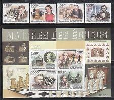 Burundi 986-90 Chess Mint NH