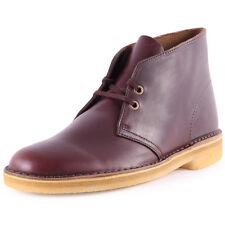 Clarks Original Men ** Desert Boots ** Wine Lea ** Limited Edition ** UK 6,7,8 G