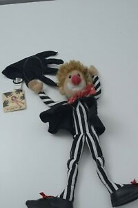 """Folkmanis Kid Gloves Clown Puppet - Mime Marionette Toy 16"""" Simple Easy Has tag"""