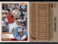 1983 Topps Cal Ripken Jr #163 - 2nd yr baseball card - Baltimore Orioles - HOF