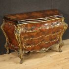 Venetian dresser burl gilded wood antique style furniture commode 3 drawers 900