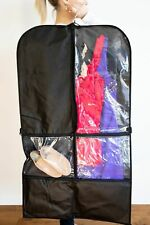 COSTUME BAG - DANCE Garment & Storage - TWO PACK  - Black/Clear with Pockets