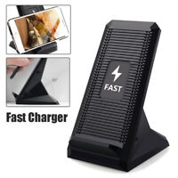2 Coils QI Wireless Charger 10W Fast Charging Cooling Fan Phone Stand Pad Holder