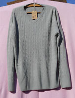 BNWT MENS CABLE KNIT CRICKET STYLE V NECK JUMPER BY HARBOUR CLASSIC SIZE XL