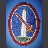 Vintage 1940's US Army WW2 District of Washington Monunment Red Sword Patch WWll