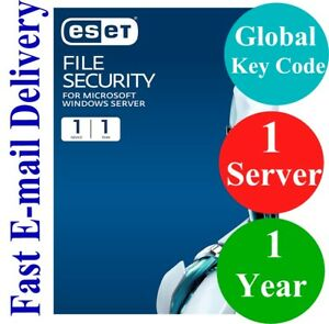 ESET File Security for Windows Server 1 Year (Unique Global Key Code) 2021