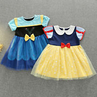 Baby Kids Girls Princess Snow White Anna Fancy Tulle Mini Dress Party Costume