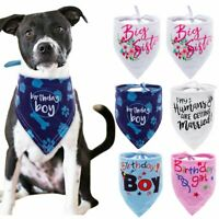 Cotton Bandana-Style Dog Collars Pet Cat Puppy Birthday Neck Scarf Neckerchief