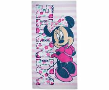 Minnie Mouse Varsity Girls Pink Beach Bath Towel Holiday Swimming Large 75x150cm