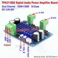 DC5V-24V TPA3116 D-Class 2*150W Dual Channel Digital Audio Power Amplifier Board