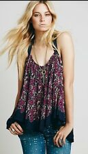 Free People  FP ONE LIVING LARGE printed Drippy Strappy Tank M