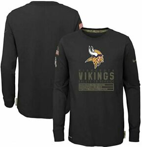 Minnesota Vikings Nike Youth Boys 2020 Salute To Service Long Sleeve Shirt