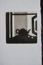 MINAUX ANDRE : Gravure originale a l'aquatinte . Carte de vœux 1975,  galerie Sa