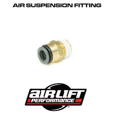 "AIRLIFT ACCUAIR PUSH FIT AIR LINE CONNECTOR DOT 3/8"" NPT TO 3/8"" PTC STRAIGHT"