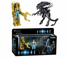 9646: Funko Reaction: Aliens Ripley, Power Loader, Queen Action Figure (3 Pack)