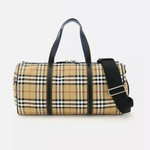 NEW Burberry Kennedy Duffle Bag 8005522 Antique Yellow AUTHENTIC NWT