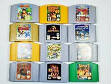 Nintendo 64 N64 Video Games Pick a Title Cleaned -Tested - Authentic