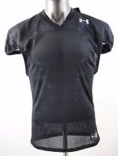 New Under Armour Heatgear Loose/Coupe Youth's Football Black Jersey Size Yxl