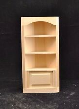 Corner Bookcase 5029 dollhouse miniature 1/12 scale Houseworks unfinished wood
