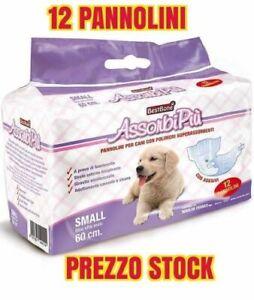 12 Pezzi Pannolini Mutandina Per Cani Unisex Maschi Femmina Cacca Pipi S M L  XL