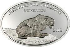 Mongolia 2005 Snow Leopard 500 Tugrik Niobium Silver Coin