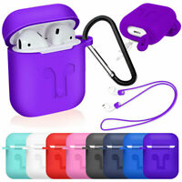 For AirPods 2nd Generation 2019 Waterproof Silicone Protective Case with Strap