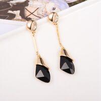 Women Fashion Jewelry Lady Elegant Crystal Rhinestone Dangle Ear Stud Earrings