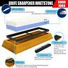 Knife Sharpener Whetstone 2 Side Grit 1000/6000 Nonslip Bamboo Base Water Stone