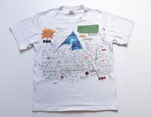 UNIQLO Jean-Michel Basquiat Shirt Adult Medium Art Tee White Short Sleeve Men's