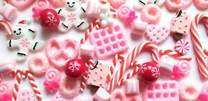 5/10/20/50pc strawberry gingerbread candy cabochons DECODEN sweets Fake candy
