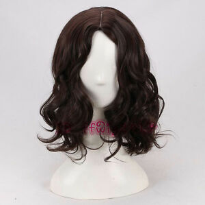 Warcraft Sir Anduin Lothar cosplay wig short brown curly wavy wig +a wig cap