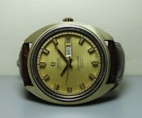 VINTAGE OMEGA SEAMASTER COSMIC 2000 AUTOMATIC DATE DATE STEEL GOLD WATCH g963