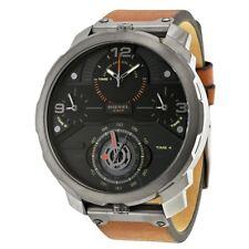 Orologio uomo DIESEL DZ7359 MACHINUS pelle marrone multifunzione box&garanzia