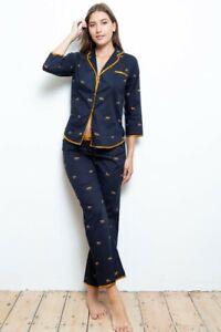 NEW Ladies 100% Cotton Leopard Cottonreal Pyjamas/Loungewear