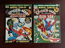 Lot of 2 Marvel Comics Marvel Team-Up Spider-Man & The Human Torch #1-9 (1972)