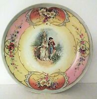 "Antique Royal Vienna Plate Beehive 14"" Large Porcelain Hand Painted Wall Charger"
