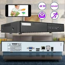 4CH 1080P Network NVR P2P Cloud Video Recorder for Surveillance IP Camera US